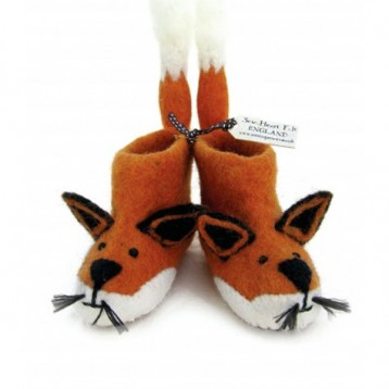 Sew Heart Felt Finlay Fox  Adult Slippers