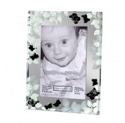 Spaceform Frame With White Leaves & Butterflies