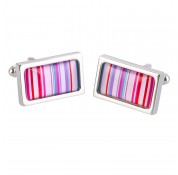 Sonia Spencer Chunky Dome Cufflinks - Pink Barcode
