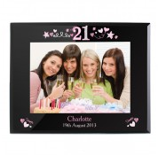 Personalised 7x5 21st Birthday Black Frame