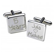 Square Happy Years Personalised Cufflinks