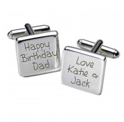 Square Happy Birthday Dad Personalised Cufflinks