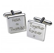 Square Together Forever Personalised Cufflinks