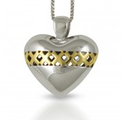 Sphere Of Love ' Sealed With a Kiss ' Pendant