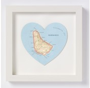 Bespoke Map Heart