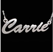 Personalised Sterling Silver 'Carrie' Style Name Necklace