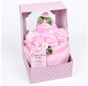 Baby's Celebration Cake Pink - 7 Piece Clothing Gift Set
