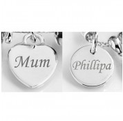 Sterling Silver Personalised Charm Tags