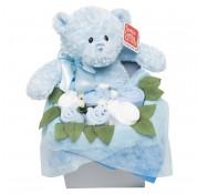 Teddy Rosebud Box - Blue