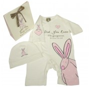 Little Rufus Girl Romper Suit & Hat 6-12 Months
