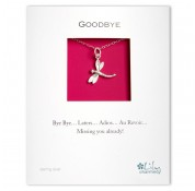 Goodbye - Dragonfly Charm Necklace By Lily Charmed