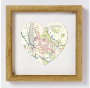 Oxford Map Heart