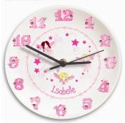 Personalised Girls Fairy Clock