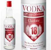 Personalised Birthday Age Label Vodka Bottle