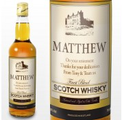 Personalised Traditional Castle Label Scotch Whisky