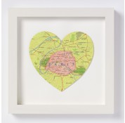 Paris map Heart