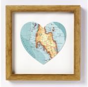 Phuket & Southern Thailand Map Heart