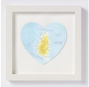St. Lucia Map Heart