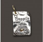 Waxing Poetic Sterling Silver & Brass Story Book Page Charm - Happily Ever After