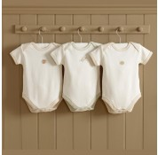 Natures Purest - Teddy & Ele Organic Cotton Shortsleeve Bodysuits 3pk