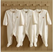 Natures Purest - Teddy & Ele Organic Cotton Babygrows 3pk