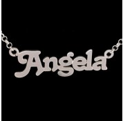 Personalised Sterling Silver 'Terra' Style Name Necklace