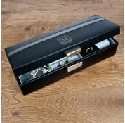 Personalised Monogram Black Jewellery Travel Case