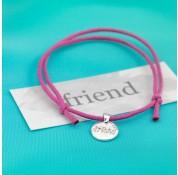 Sterling Silver Friend Cord Bracelet by Kutuu
