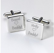 Personalised 'Who Loves Daddy' Cufflinks