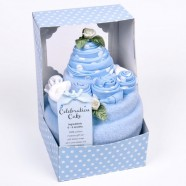 Baby's Celebration Cake Blue 0 - 3 Months - 7 Piece Clothing Gift Set