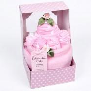 Baby's Celebration Cake Pink 0 - 3 Months - 7 Piece Clothing Gift Set