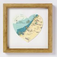 Dubai Map Heart