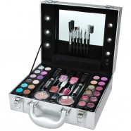 Evie Mai - Silver Light Up Vanity Case