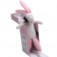 Little Rufus Girl Rabbit Rattle With Gift Box