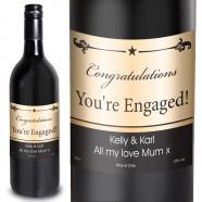 Red Black Border Personalised Red Wine