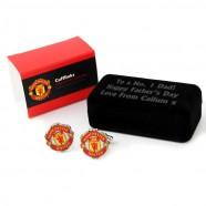 Personalised Manchester United Cufflinks