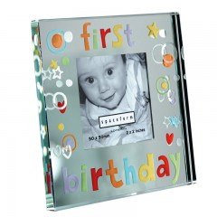 Spaceform Mini Mirror Frame - First Birthday