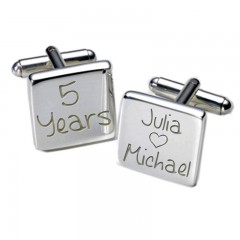 Square Happy Years Personalised Cufflinks