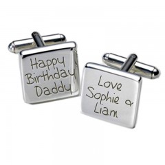 Square Happy Birthday Daddy Personalised Cufflinks