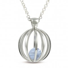 Sphere Of Life ' Birthstone ' Pendant For March - Blue Topaz