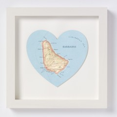 Bespoke Map Heart