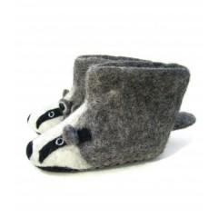 Sew Heart Felt Billie Badger Adult Slippers