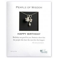 Pearls Of Wisdom - Happy Birthday - Cupcake Charm Necklace By Lily Charmed