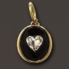 Waxing Poetic Sterling Silver & Brass Realise True Riches Charm / Pendant