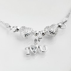 Gabrielles Sterling Silver 'I love(Heart) You' Charm Bracelet. Choice Of Personalisation