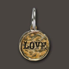Waxing Poetic Sterling Silver & Brass Love Camp Charm / Pendant