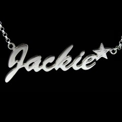 Personalised Sterling Silver 'Carrie' Style Star Name Necklace
