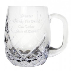 Personalised Round Crystal Pint Tankard