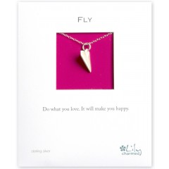 Fly - Paper Plane Charm Necklace By Lily Charmed
