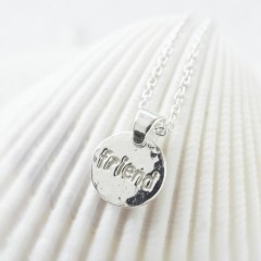 Sterling Silver Friend Charm Necklace by Kutuu